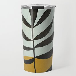 Soft Abstract Large Leaf Travel Mug