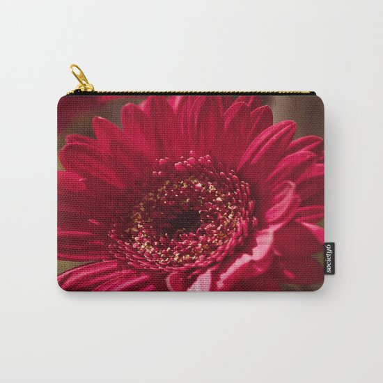 Beautiful Red Gerbera Carry-All Pouch