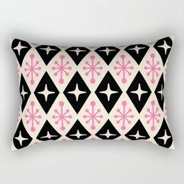 Mid Century Modern Atomic Triangle Pattern 113 Rectangular Pillow