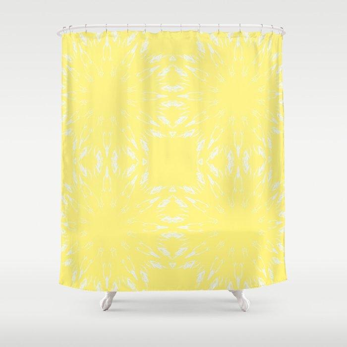 Lemon Yellow Color Burst Shower Curtain