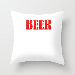 Beer The Only Good Carb T-shirt Throw Pillow