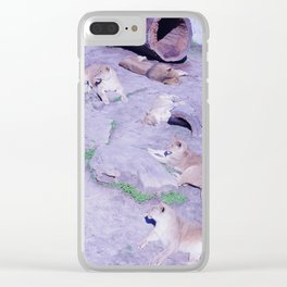 Lion Family Clear iPhone Case