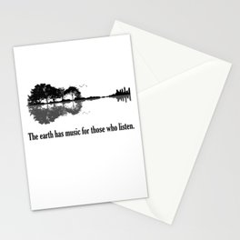 The Earth Has Music For Those Who Listen Guitar Stationery Cards