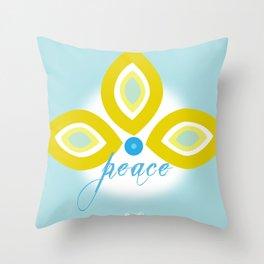 peace bindi Throw Pillow
