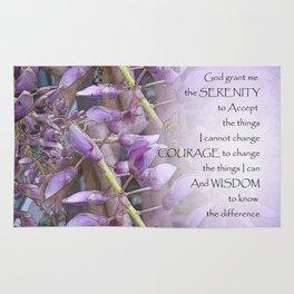 Serenity Prayer Wisteria Rug