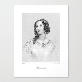 Miranda, Heroine of Shakespeare  Canvas Print
