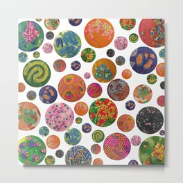 Petri Dish Polka Dot  Metal Print