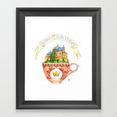 Birthday Cup Framed Art Print