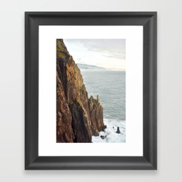 Lower Neahkahnie Mountain Ocean Spires, Oregon Coast Landscape Framed Art Print