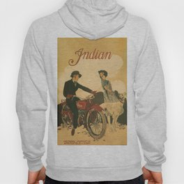 Vintage poster - Indian Motorcycles Hoody