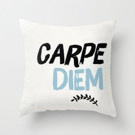 Carpe Diem Inspirational Art Throw Pillow