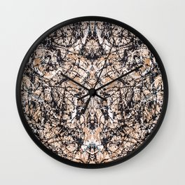 Reflecting Pollock Wall Clock