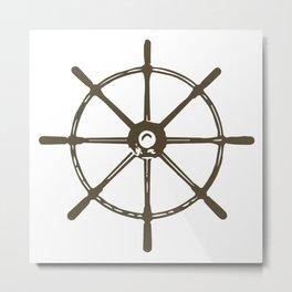 Ships Wheel Metal Print