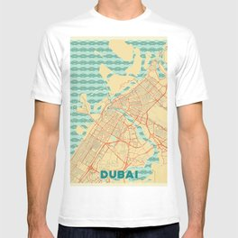 Dubai Map Retro T-shirt