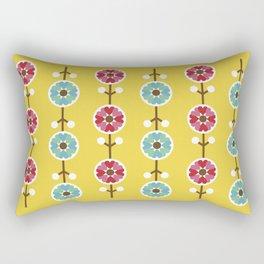 Scandinavian inspired flower pattern - yellow background Rectangular Pillow