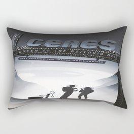 Ceres : Retro Space Galaxy Poster Rectangular Pillow