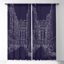 Street Etching Blackout Curtain
