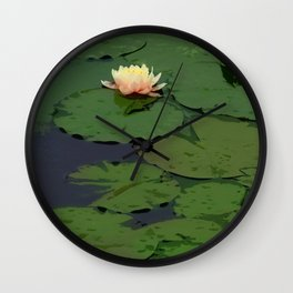 Lillypad Flowering Wall Clock