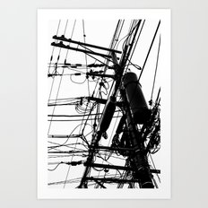 Telephone Poll 1 Art Print