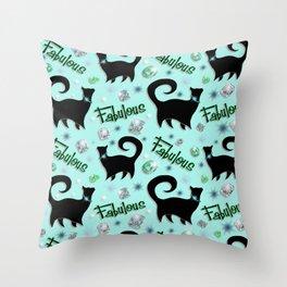 Fabulous Felines Throw Pillow