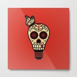 Noche de los Muertos - Rojo Metal Print