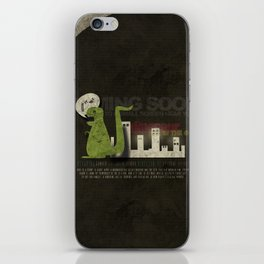 Dinosaur in the City iPhone Skin