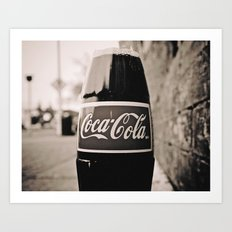 Coca-Cola closer Art Print
