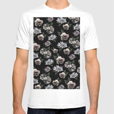 garden print  SMALL Mens Fitted Tee White