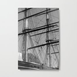 Masts and Rigging of the Cutty Sark Metal Print