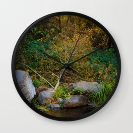 Tree Branch by the Creek Wall Clock