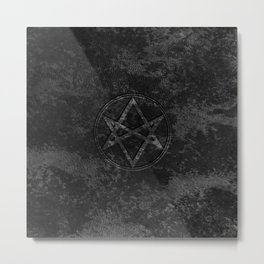 Men of Letters Leather Dark Metal Print