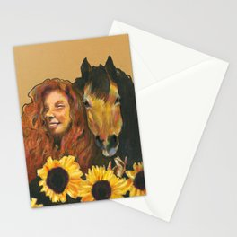 Queen of Wands Stationery Cards