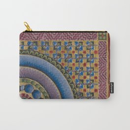 Armenian illuminated manuscript style concentric circles design Carry-All Pouch