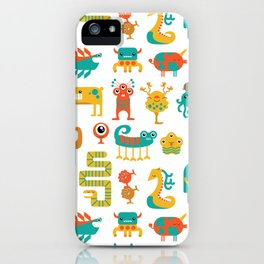 Colorful monster pattern iPhone Case