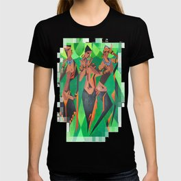 Three Ethnic Traditional Black Women Dancing T-shirt