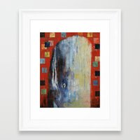 moby dick Framed Art Prints featuring Moby Dick by Michael Creese