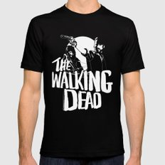 The Walking Dead Black MEDIUM Mens Fitted Tee