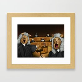 Everybody judges Framed Art Print