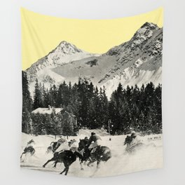 Winter Races Wall Tapestry