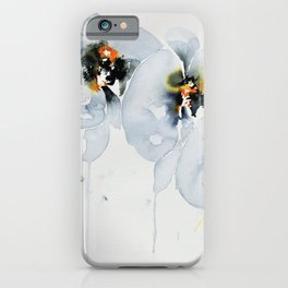 White Orchid in Watercolor iPhone Case