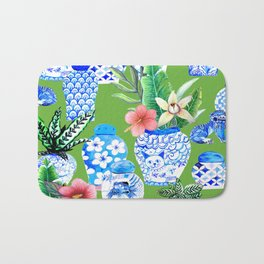 Chinese ginger jar art and Chinoiserie Home decor, Bath Mat