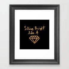 Shine (black gold edition) Framed Art Print