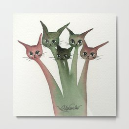 Dubuque Whimsical Cats Metal Print