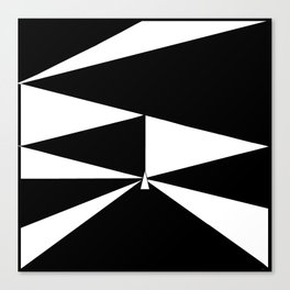 Triangles in Black and White Canvas Print
