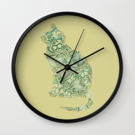 Ornament at watercolor Wall Clock