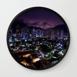Purple Rio Wall Clock