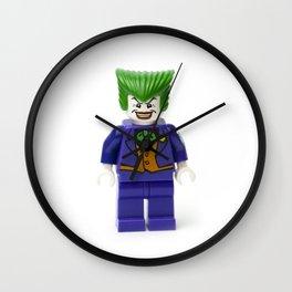 Haha funny man Joker Minifig Wall Clock