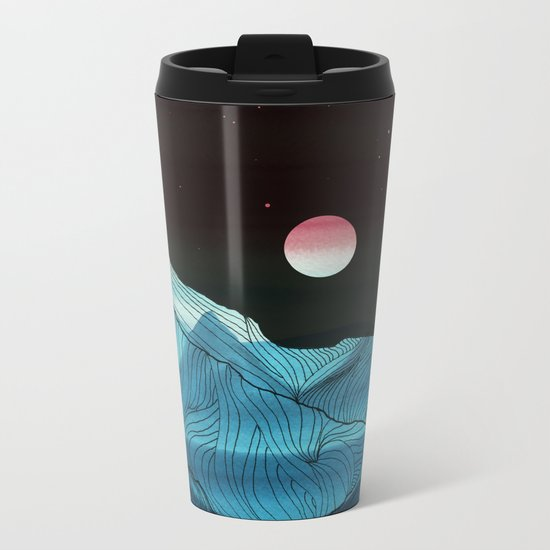 Lines in the mountains XV Metal Travel Mug