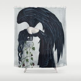 Despair Gothic Angel Shower Curtain