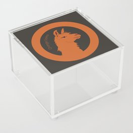 Orange Llama Acrylic Box